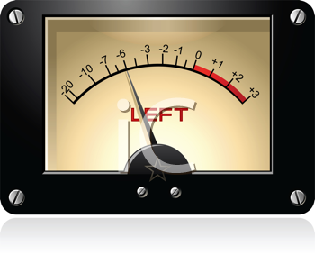 Royalty Free Clipart Image of an Electrical Signal VU Meter