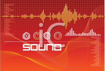 Royalty Free Clipart Image of Speech Recognition Sound Lab Signals