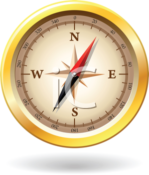 Royalty Free Clipart Image of a Detailed Compass