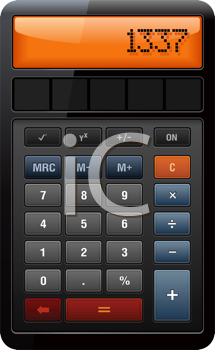 Royalty Free Clipart Image of an Accounting Calculator