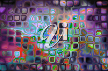 blurred spots and colorful dots out of focus background