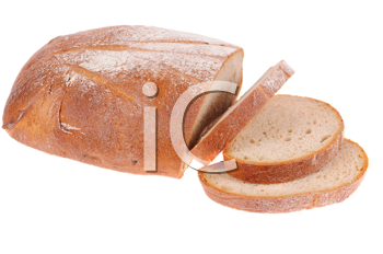 bread brown isolated on white background