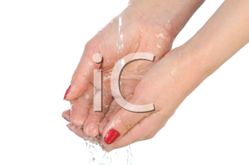 Royalty Free Photo of Water Dripping off a Hand