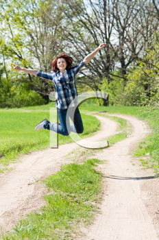 Royalty Free Photo of a Woman Jumping