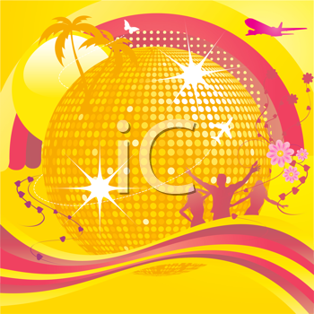 Royalty Free Clipart Image of an Abstract Party Background