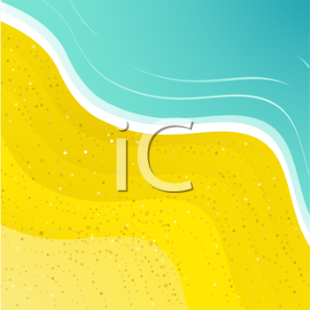 Royalty Free Clipart Image of a Tropical Beach Background