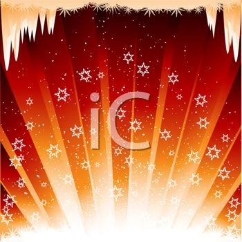Royalty Free Clipart Image of a Festive Winter Background