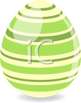 Royalty Free Clipart Image of a Green Easter Egg