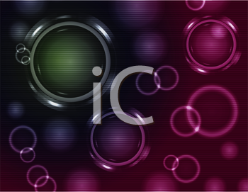 Royalty Free Clipart Image of an Abstract Background With Metallic Circles