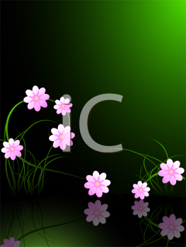 Royalty Free Clipart Image of a Pink Flowers