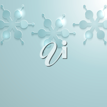 Royalty Free Clipart Image of a Snowflake Background