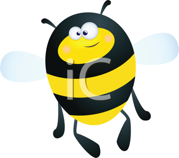 Royalty Free Clipart Image of a Bumblebee