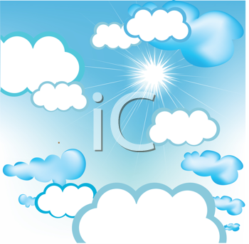 Royalty Free Clipart Image of a Cloudy Sky