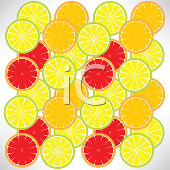 Royalty Free Clipart Image of a Fruit Background