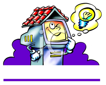 Royalty Free Clipart Image of a Web Host With a Good Idea
