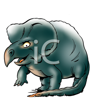 Royalty Free Clipart Image of a Triceratops
