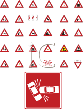 Royalty Free Clipart Image of Signs