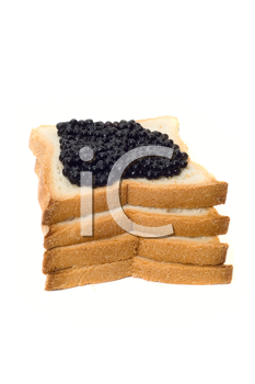 Royalty Free Photo of Bread and Caviar