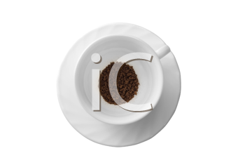 Royalty Free Photo of Coffee Beans in a Cup