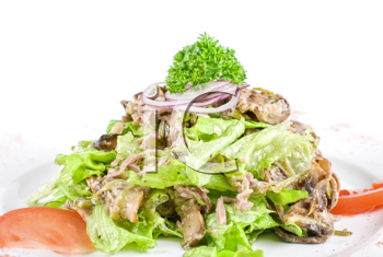 Royalty Free Photo of Salad With Beef Tongue