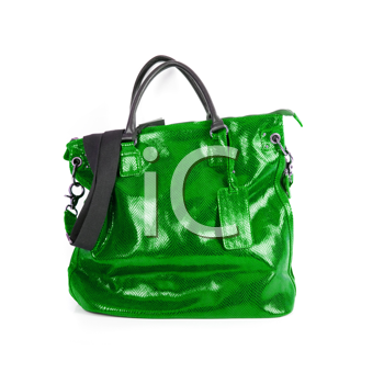 Royalty Free Photo of a Green Leather Purse