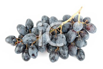 Red Grape cluster isolated on white background