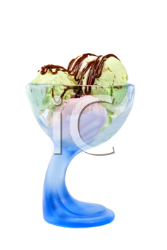 scoops of ice-cream isolated on a white background