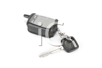 Car key and security system isolated on a white background