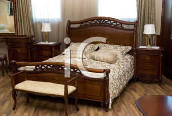 Royalty Free Photo of a Bedroom