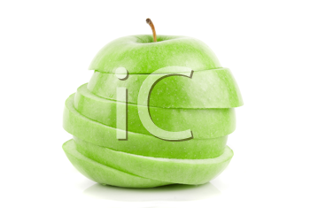 Royalty Free Photo of a Sliced Apple