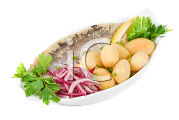 Royalty Free Photo of Herring With Vegetables