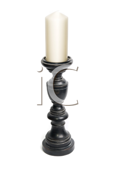 candlestick with candle isolated on a white background