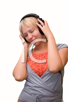 Royalty Free Photo of a Teen Girl Listening to Music