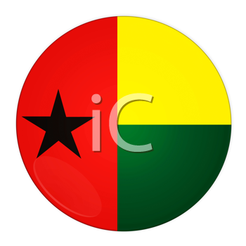 Abstract illustration: button with flag from Guinea-Bissau country