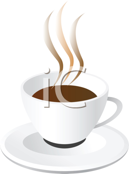 Abstract vector illustration of coffee cup