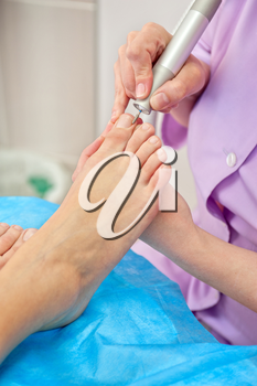 female foot pedicure in a beauty salon