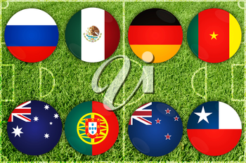 Confederations 2017 Cup football countries participant