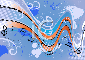 Royalty Free Clipart Image of a Music Background