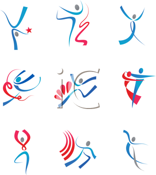 Royalty Free Clipart Image of a Set of People Symbols