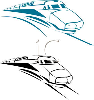 Royalty Free Clipart Image of Trains
