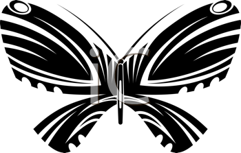Royalty Free Clipart Image of a Butterfly