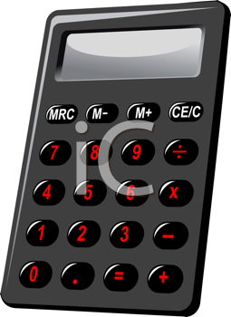 Royalty Free Clipart Image of an Electronic Calculator