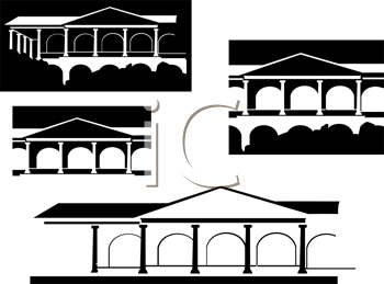 Royalty Free Clipart Image of Buildings