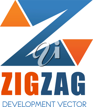 Letter Z icon for construction development or building industry corporation. Vector zig zag geometric symbol of letter Z for commercial business company and brand identity design