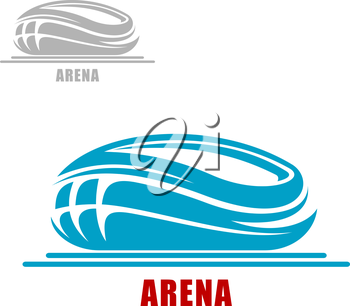 Modern sports arena or stadium abstract icon in the form of a round bowl