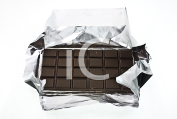 Royalty Free Photo of Chocolate Wrapped in Foil