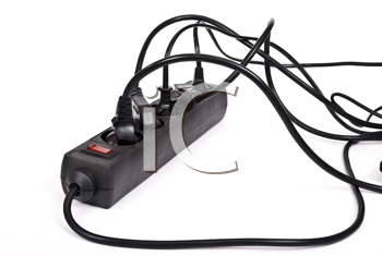 Royalty Free Photo of an Extension Cord With Plugs