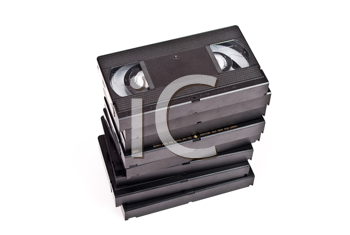 Royalty Free Photo of Videocassettes