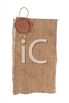 Wax seal on sackcloth material