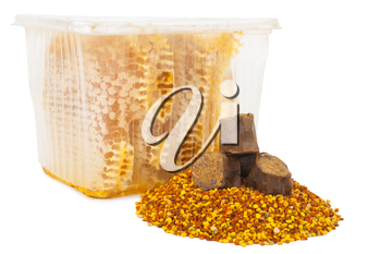 Honey comb and pollen with propolis